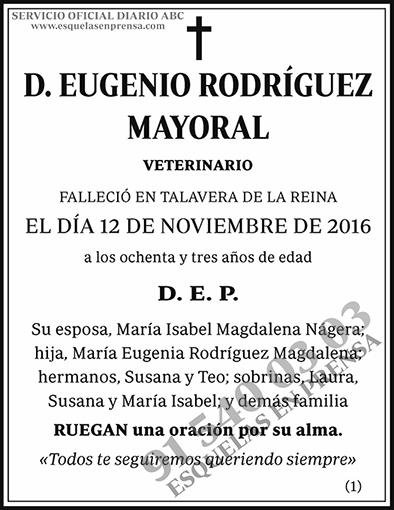 Eugenio Rodríguez Mayoral